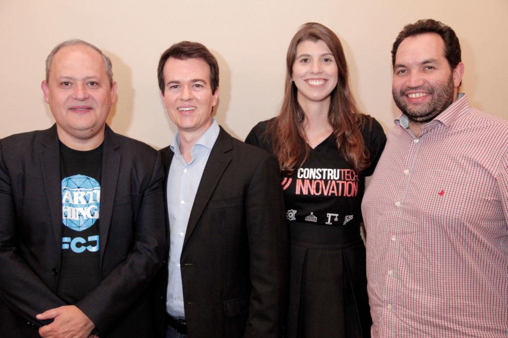 Foto: Paulo Justino, CEO da FCJ Venture Builder e idealizador do projeto; Átila de Sá, CEO do projeto; Patrícia Macedo, COO do projeto; João Zica Fialho, idealizador do projeto.